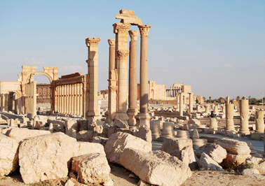 The UNESCO World Heritage site of Palmyra in Syria has come under fire from the Syrian army.